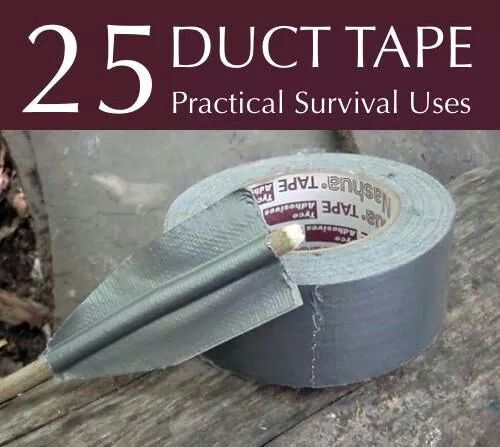 25 uses for duct tape