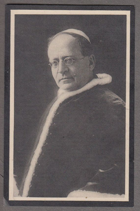 Pope Pius XI antique funeral mourning catholic by Thereseholycards