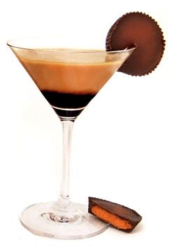 Peanut Butter Cup Cocktail Recipe 1-1/2 oz Van Gogh Dutch Chocolate Vodka 1 oz Castries Crème Peanut Rum 3/4 oz Chocolate Liqueur 1/2 oz Cream