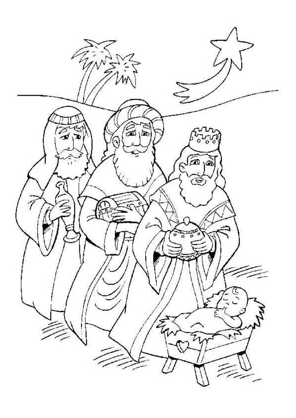 Coloriage / dessin de Noël les Rois Mages