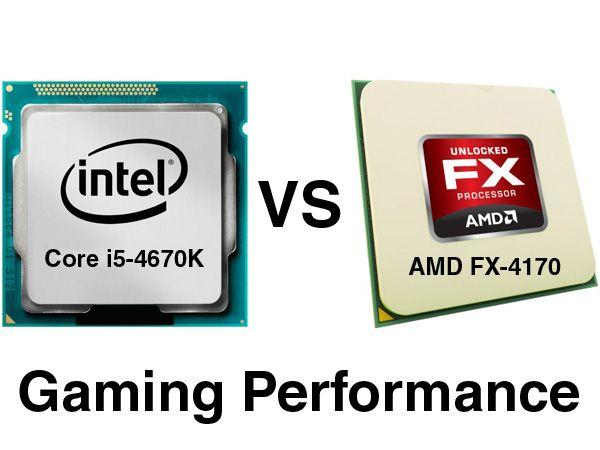 Intel Core i7-4770K vs AMD FX-4170 Gaming-Performance