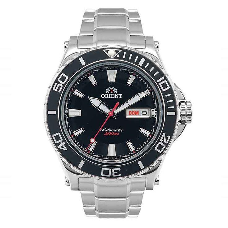 [rubi] Relógio Orient Automático Diver 469SS049 P1SX preto - R$ 607 no boleto + FG