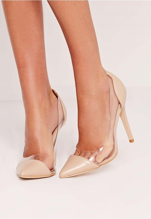 Channel your inner Kim K, make like the frow and be seen in the seasons hottest heels in these perspex courts! These babin' beauts come in a dreamy nude shade and look good dressed up or down. Pair with a figure hugging midi dress and camel...