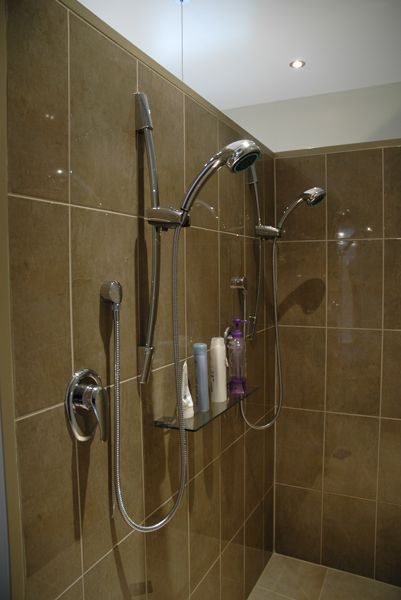 The ultimate luxury - a double shower! This bathroom features James Hardie Villaboard® Lining and Substrate for tiling