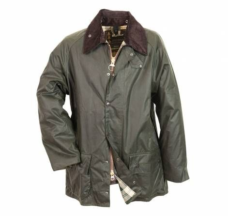 Barbour Beaufort Waxed Jacket. This Classic Country Barbour Waxed Cotton Jacket with Tartan Lining and Corduroy Collar features Snap-Close Throat and Storm Flaps and Moleskin Lined Hand-Warmer Pockets for extra warmth. An optional Zip-In Liner and Snap-On Hood make it a true All-Season Jacket. In Sage of course!!! It Just Doesn't Get Any Better Than Barbour!!!
