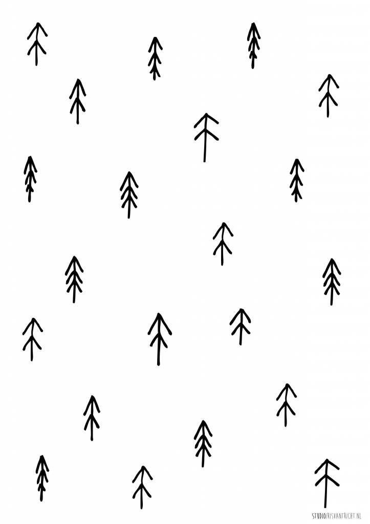 Studio Iris van Tricht behang boompjes