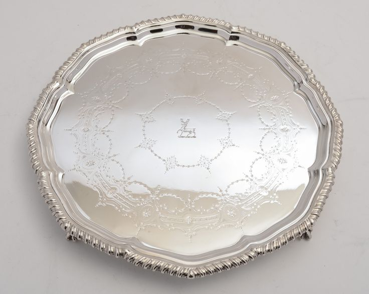 Victorian Silver Plated Salver (ID 47171) by KingsdownAntiques on Etsy & 89 best Antique silver plate images on Pinterest | Antique silver ...