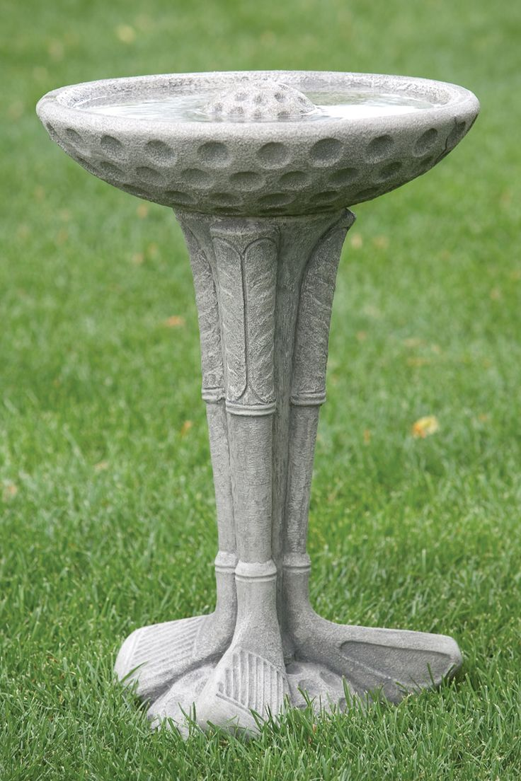 One Piece Golf Club Bird Bath | Massarelli's