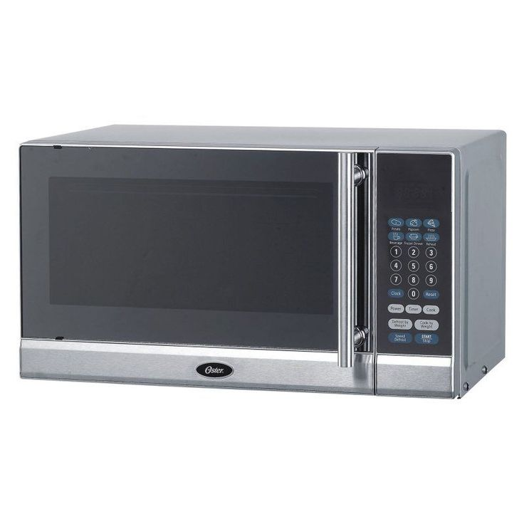 The Oster Cu Ft Stainless Steel Countertop Microwave Oven For Your Dorm Or Apartment