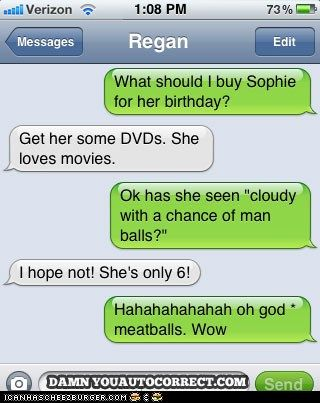 I LOVE auto-correct fails, except when it happens to me ;-P