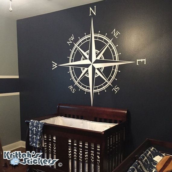 ((-- ADD SECOND COLOR FOR LETTERS --)) Go to this Etsy listing link to add a second decal color for the letter coordinates: https://www.etsy.com/listing/241005993/letters-for-the-compass-rose-vinyl-wall?ref=listings_manager_grid ((-- ITEM DESCRIPTION --)) My vinyl wall decals have no clear or colored background. Transfer tape is used to transfer the design to the wall and is then removed, leaving only the vinyl design on the wall. These decals are easily rem...