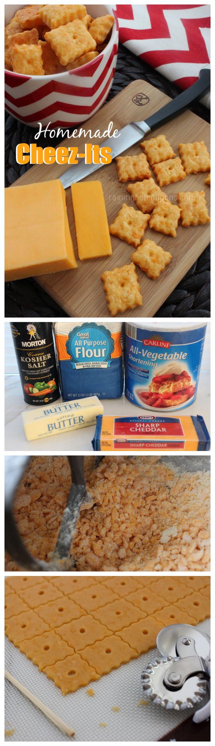 Homemade CheezIts  Recipe  Starters  Homemade cheez