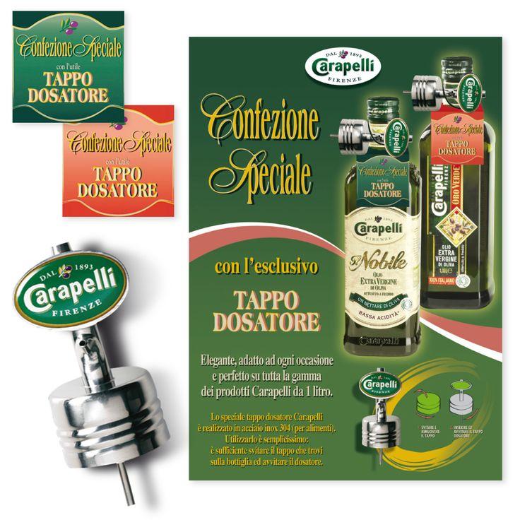 CARAPELLI Olio Confezione Speciale Attività al Punto Vendita - Gift Tappo Dosatore