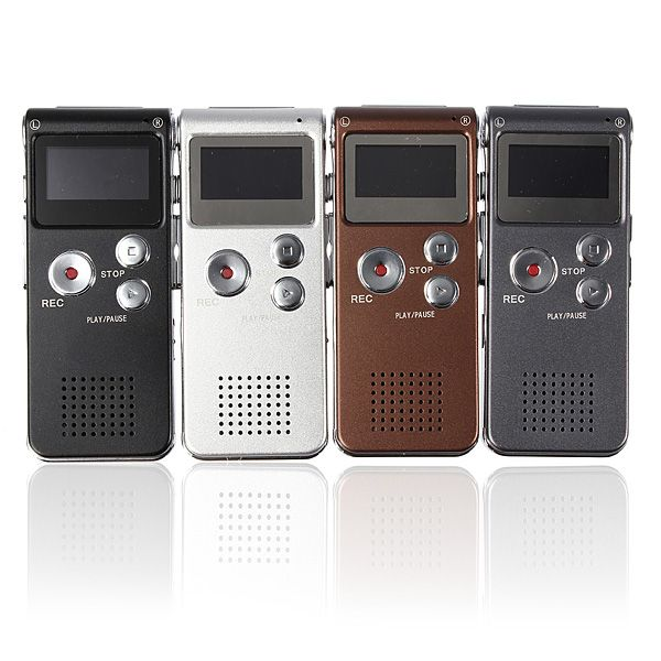 Steal Rechargeable 8GB 650HR Digital Audio Voice Recorder MP3 Player