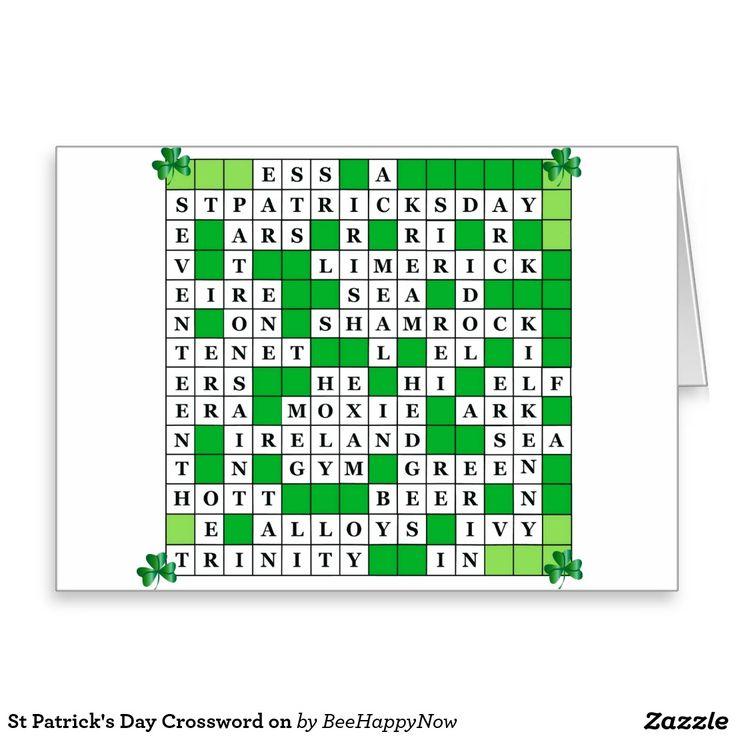 St Patricks Day Crossword On Greeting Card