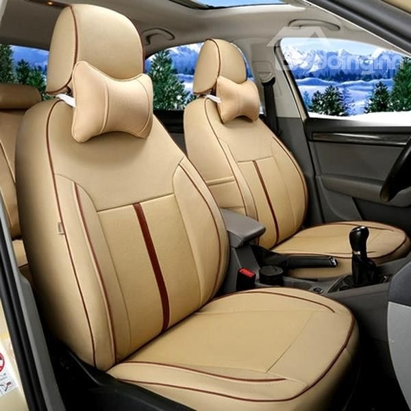 Classic Simplified Design With Streamlined Patterns Custom Car Seat Covers