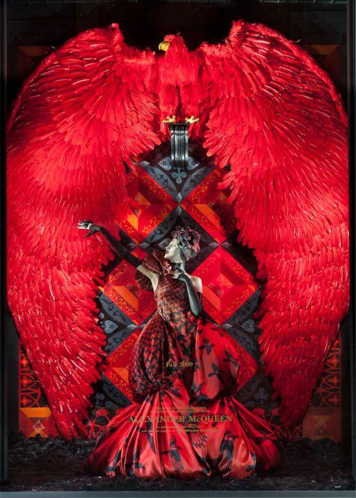 Window display Bergdorf Goodman. #Alexander McQueen
