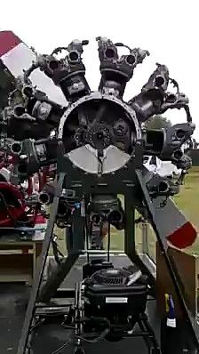 radial engine working process