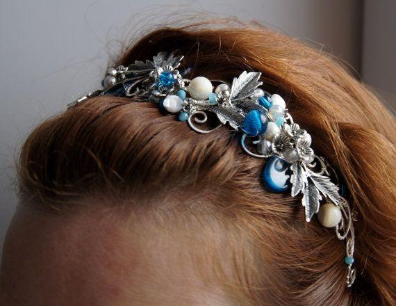 Elven Headband Wedding hair band Spring by StoneSongBijouterie