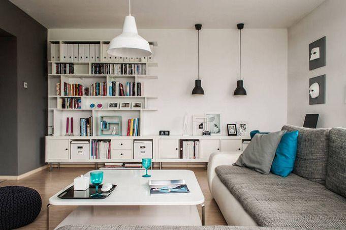white & gray apartment interior