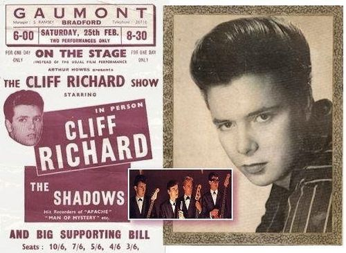 https://flic.kr/p/JCiq9f | Bradford. Gaumont Cinema. 1961. | For one night only...Cliff & The Shadows play two evening slots at the local cinema.