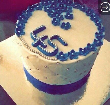 45 wedding anniversary cake