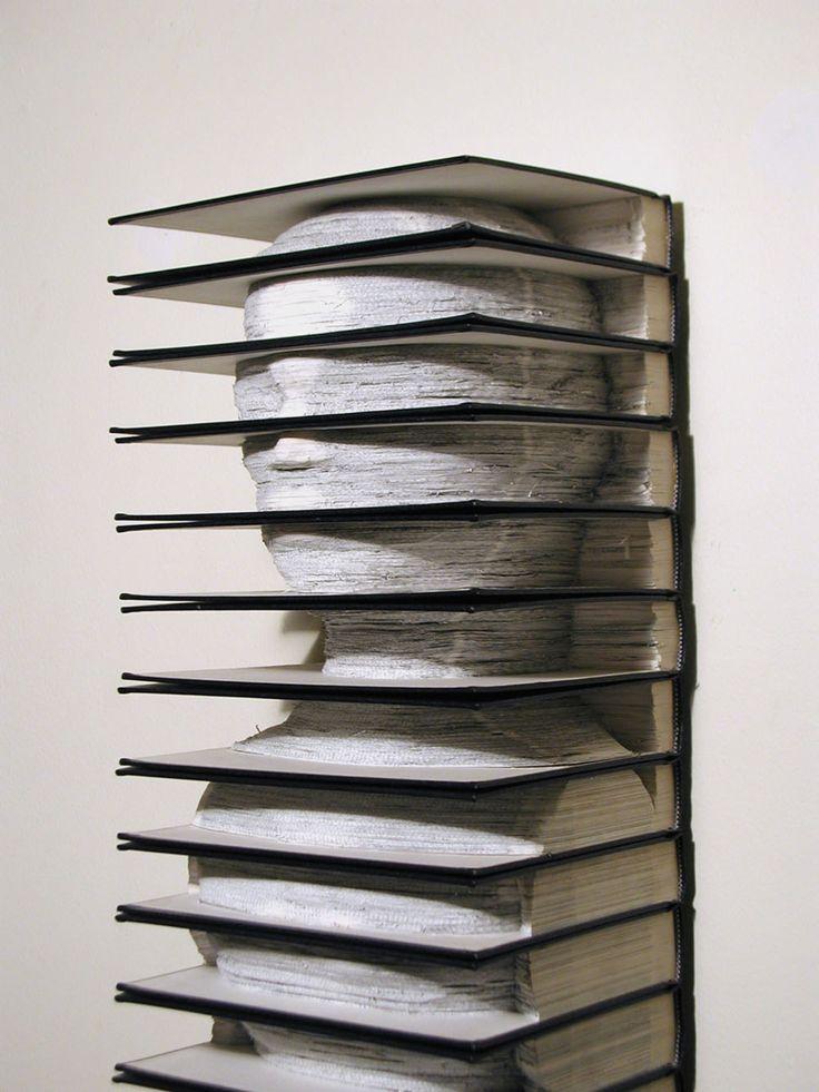Altered set of vintage Encyclopedia's by Brian Dettmer