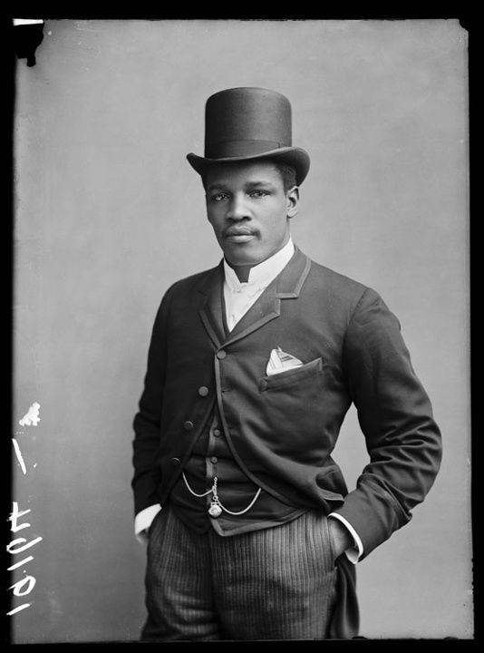 Peter Jackson, 2 December 1889, London. Born in 1860 in St Croix, then the Danish West Indies, Jackson was a boxing champion who spent long periods of time touring Europe. In England, he staged the famous fight against Jem Smith at the Pelican Club in 1889. In 1888 he claimed the title of Australian heavyweight champion.