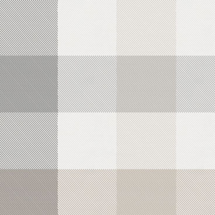 "Gray and Taupe Buffalo Check Fabric by Carousel Designs.  Gray and taupe buffalo check fabric printed on antique white background. Fabric is cut to order in one continuous piece. This is a 100% cotton, 58"" wide, medium weight fabric."