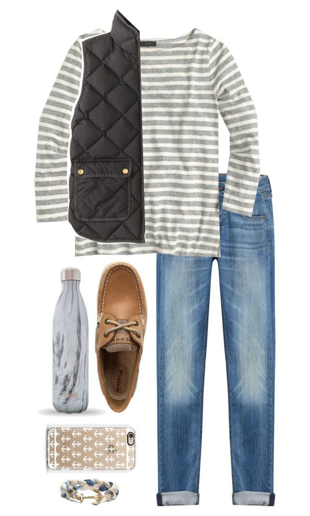 """Boatneck and Boat Shoes"" by lilyhkeville ❤ liked on Polyvore featuring rag & bone, J.Crew, Sperry, Casetify and Brooks Brothers"