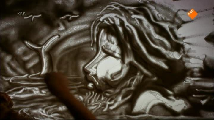 De Zandtovenaar: Het verhaal van Jona - The story of Jonah told using sand art and other performing/recording arts.  Very cool.  (It's not in English, but if you know the story it doesn't matter so much.)  I don't have time to watch the whole thing, but love the idea!