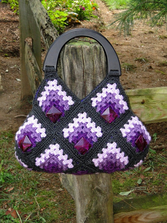 OOAK Stylish Handmade Granny Squares Crochet by alenahandmadegifts, $99.95 Or I could make one just like it for $5. haha.