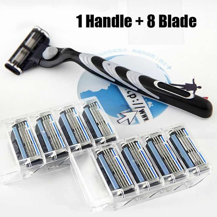 8pcs Razor Blades+1pcs Razor Holder turbo Face Care Manual Shaving Razor Blade Mache 3 Safe Blades Shaving Machine For Men