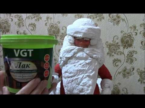 Дед Мороз из ваты 2 часть