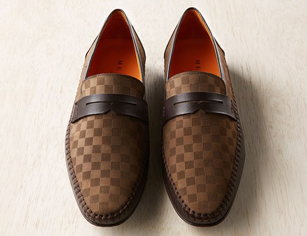 Mezlan Mens Loafers with Soft Nappa Calfskin