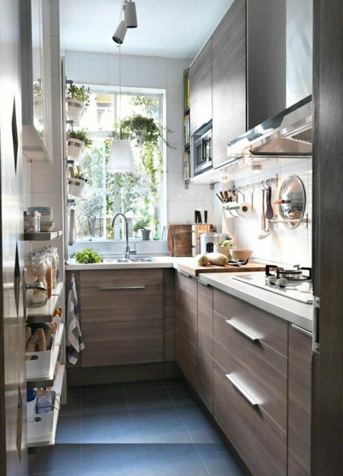 comment aménager une petite cuisine avec meubles en chene