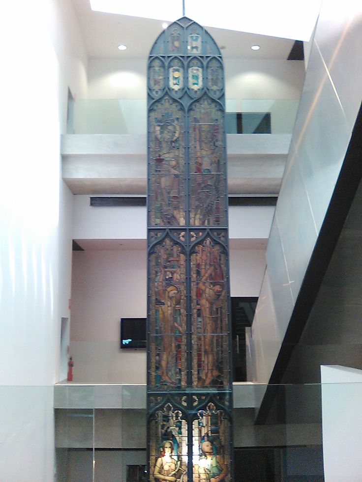 Just Another Lovely Day at: The Ian Potter Museum. Beautiful stained-glass window saved from a building that had burned down on the University of Melbourne campus.