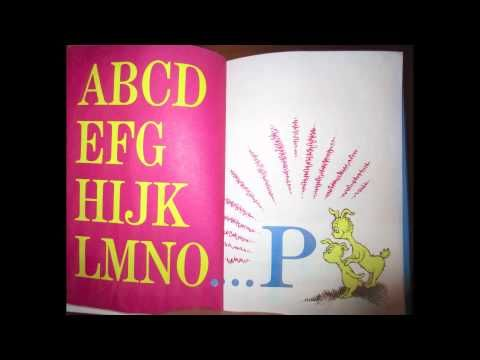Song: Interesting idea of how to make a song our of Dr. Seuss' ABC book