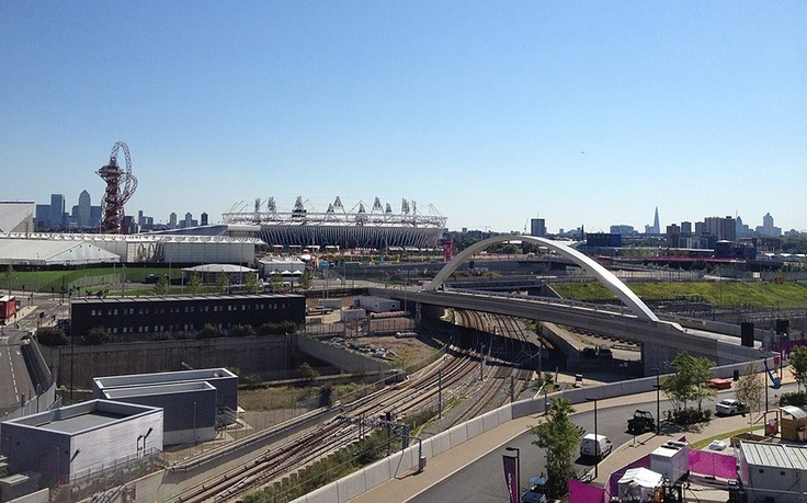 London 2012 Olympics: athletes' Twitter pictures, July 24 - Skyline: Team GB badminton player Chris Adcock tweets a picture of the view from him room in the athletes' village and says 'View from our flat!!!! Olympic village is amazing!!!!' - follow Chris @ChrisAdcock1  Picture: @CHRISADCOCK1 / TWITTER