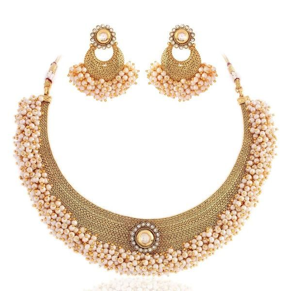 Masterclass Gold plated kundan set Image