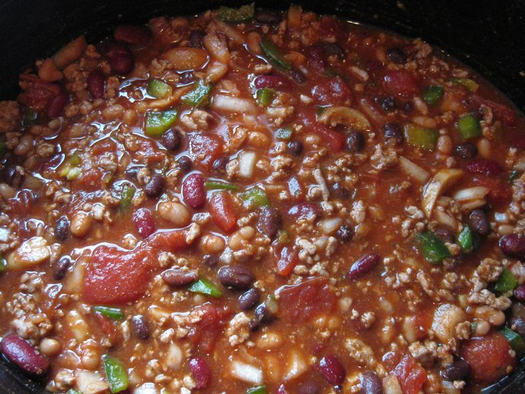 Slow-Cooker Turkey and Three Bean Chili: Cooker Recipes, Andrew Lov Chilis, Chilis Recipes, Delicious Chilis, Chilis Week, Mr. Beans, Favorite Recipes, Meals Plans, Beans Chilis
