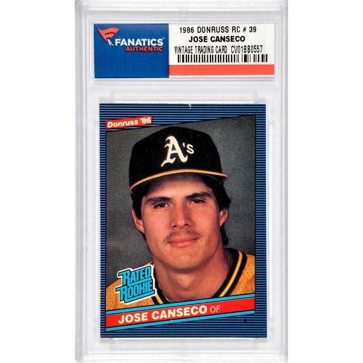 Jose Canseco Oakland Athletics 1986 Donruss #39 Rookie Card