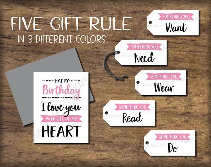 5 Senses Gift Tags & Birthday Card. Instant download printable. Five Senses Gift for him her child kid parent friend husband wife