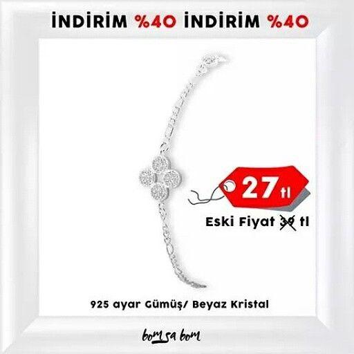 925 ayar gümüş Şans Bileziği indirimde. Kaçırmayın!  www.bomsabom.com