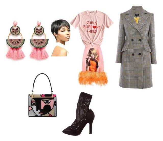 """Prada | Boobs TRUMP Balls | Artsy Impressions | 2018 Trends"" by chanterraa on Polyvore featuring Prada, Dolce&Gabbana, Elizabeth Cole, Karen Millen and WithChic"