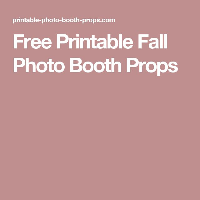 Free Printable Fall Photo Booth Props