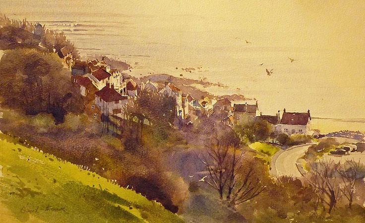Runswick Bay by David Thomas winner of the Canson Award