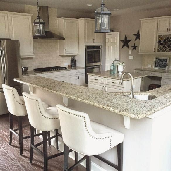 Existing Obsessions 8 Heavenly Kitchens With White Granite Countertops With Images Classy Kitchen