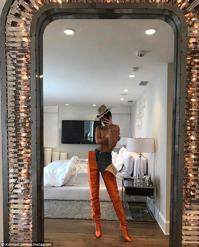 Kinky boots:Kendall Jenner posted one of her sexiest Instagrams ever on Saturday morning