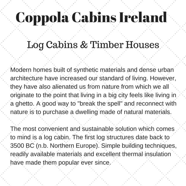 Coppola Cabins Ireland hello from Log Cabins & Timber Houses Modern...